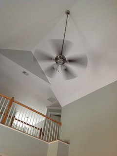 Our Ceilings Are About 24 At The Peak Fan Doesn T Wobble On Any Sd And Does A Good Job Of Air Movement