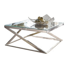 Ashley Furniture Homestore   Coylin Square Cocktail Table, Brushed Nickel   Coffee  Tables