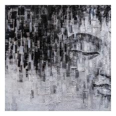 Buddha's Thinking I- Hand Painted Canvas Art