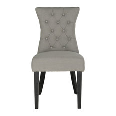 Gretchen Tufted Side Chairs Set Of 2 Granite Linen