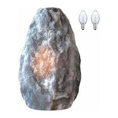 WBM Gray Naked Salt Lamp