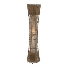 Unique Floor Lamps: Benzara - Beautiful Unique Styled Metal Rattan Floor Lamp - Floor Lamps,Lighting