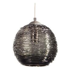 Smoke grey glass pendant lighting houzz providence art glass and lighting contemporary spun glass globe pendant lights smoke gray aloadofball Image collections