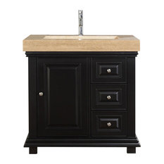 "Silkroad 36"" Modern Single Sink Bathroom Vanity"