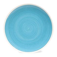 Maisons du monde - Piatto piano blu in maiolica D 26 cm CYCLADES - Piatti piani