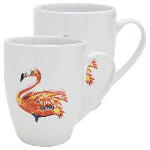 Flamingo Mugs, Set of 2
