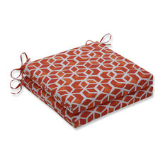 Outdoor/Indoor Celtic Marmalade Squared Corners Seat Cushion 20x20x3 (Set of 2)