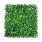 """6-Pieces 20""""x20"""", UV Proof Artificial Floral Boxwood Hedge Mat"""