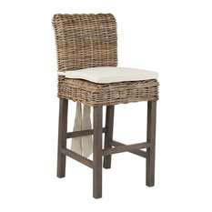 East At Main's Dyer Brown Rattan Counter Stool