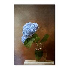 Jai Johnson 'Blue Hydrangea In A Vase' Canvas Art, 32 x 22