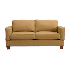 Raleigh Quick Assembly Two Seat Oak Leg Sofa, Oat
