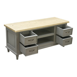 Chateau Storm Grey TV Unit 4-Drawer 2-Shelf