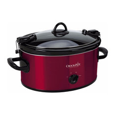Crock-Pot Cook and Carry Manual Slow Cooker, Red