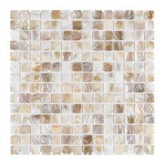 SomerTile Conchella Square Mosaic Wall Tile, Natural