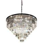 Italian Concept - Sk 7-Tier Odeon Crystal Prism Fringe Chandelier - This gorgeous chandelier can fill any room with its beautiful 7 layers of crystal. The round form adapts perfectly and brings together all aspects of design. Elegant lights radiate from the inside of the crystal to create a modern yet refined look.