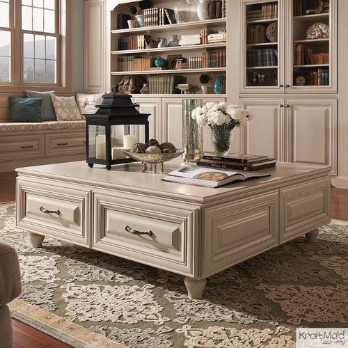 Bert Mushroom Storage Coffee Table: KraftMaid: Living Spaces