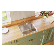 DLR191910PD2 Lustertone Classic Stainless Steel Laundry Sink with Drain, 2 Holes