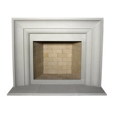 Avant Cast Stone Fireplace Mantel, Pearl
