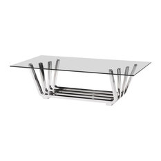 Zuo Modern Contemporary Coffee Table Chrome Gl Tables
