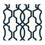 Ge3664 Hourglass Trellis Geometric Trellis Wallpaper