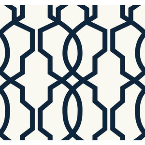 Gatsby Navy Blue Gold Sh34547 Contemporary Wallpaper By Blue