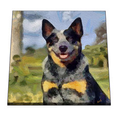 "Australian Cattle Dog, Blue Heeler, Baily, 6"" Ceramic Trivet/Decorative"