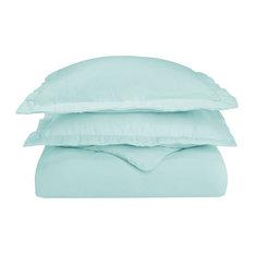 Blue Nile Mills - Extra-Warm Cotton Flannel Duvet Cover Set, Cal King, Light Blue - Duvet Covers and Duvet Sets