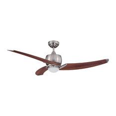 """Treo 52"""" Satin Nickel Ceiling Fan"""