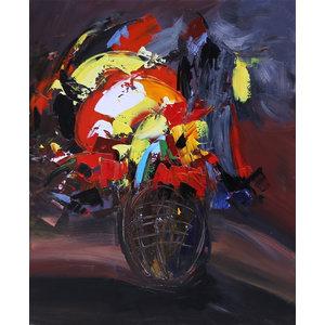 """Flowerish"" Acrylic Painting, 80x100 cm"