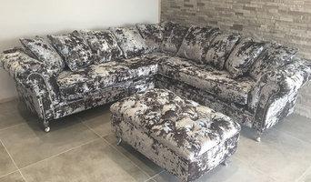 Fabric Grey Crushed Velvet Sofa