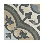"9.75""x9.75"" Concept Porcelain Floor and Wall Tiles, Set of 16, Carthusian"