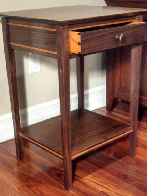 Walnut And Cherry Shaker End Table
