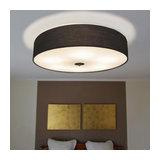 Ceiling Lamp Drum 70 Round Black