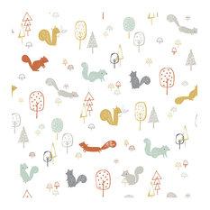 """Lilipinso """"Wood Squirrels"""" Wallpaper, 50cm x 10m"""