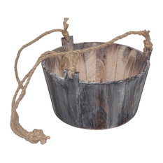 Vermont Wooden Planter With Rope