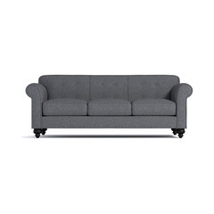 Pico Tufted Back Sofa, Smoke. Button Back Sofa