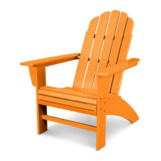 Vineyard Curveback Adirondack Chair, Tangerine