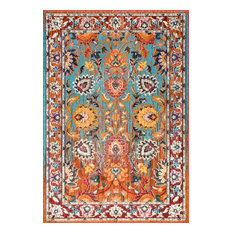 Traditional Vintage Floral Glory Rug, Multi, 4'x6'