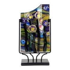 "Abstract Starry Night Rectangular Vase, 15"""