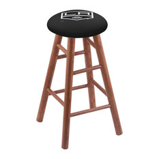 Oak Counter Stool Medium Finish With Los Angeles Kings Seat 24-inch