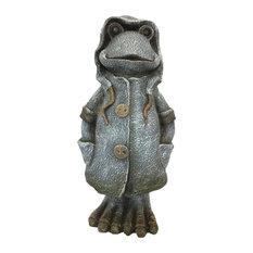 """17"""" Rain Coat Frog"""