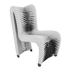 Seat Belt Dining Chair, V2 Gray/Black