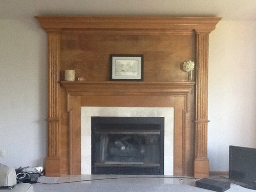 Leave The Fireplace As Oak Would It Look Funny To Have Painted Baseboards Trim White An Fyi Wall Paint Color Will Be Sw Requisite Gray