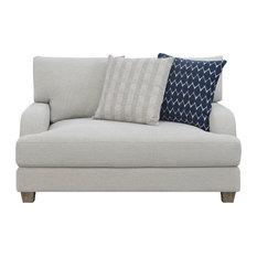 Emerald Home Hazlehurst Chair/Half 2-Pillows, Harbor Gray