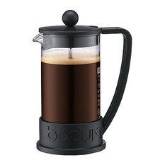 Bodum Brazil French Press Coffee Maker, Black, 3 Cups, 0.35 L