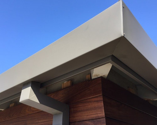 Fascia Cladding Square Gutters And Downspouts In Newport