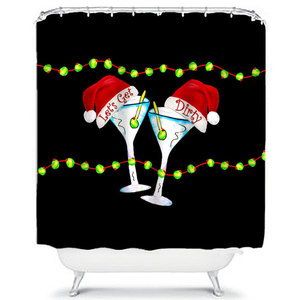 Holiday Dirty Martini Shower Curtain
