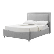 Zeus Storage Bed Frame, Grey, Double
