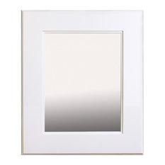 "14""x18"" Fox Hollow Furnishings Mirrored Medicine Cabinet, Shaker White"