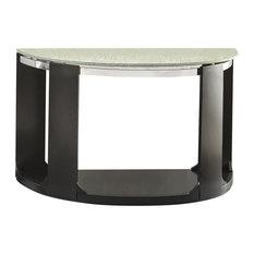 Steve Silver Croften Cracked Glass Sofa Table, Merlot